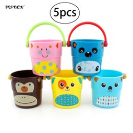 shower toys Canada - 5pcs Baby Kids Shower Bath Toys Pour Bucket Bathing Water Spraying Tool Cute Flow Cup Style Baby Children's Toy