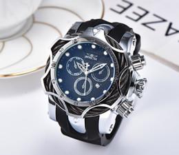 7d0e7861f9d0 1E INVICTA Reloj de oro de lujo Todos los dialz de trabajo Hombres Relojes  deportivos de cuarzo Cronógrafo Fecha automática banda de goma Reloj de  pulsera ...
