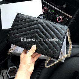 Wholesale letter cover resale online - Woman bag Original Box Genuine Leather High Quality Women Messenger Bag Handbag Purse