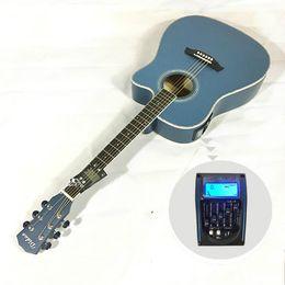 $enCountryForm.capitalKeyWord Australia - 41 inch folk acoustic guitar electric box EQ Basswood mid-range missing matte beginner guitar free shipping