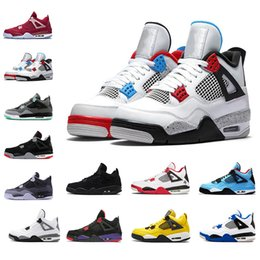 $enCountryForm.capitalKeyWord Australia - jordanblack Top Quality 2019 4s sports shoes for men Royalty white new bred the Fear Pack Athletic 4 basketball shoe mens sneakers