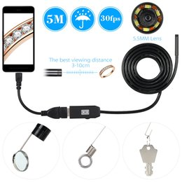 $enCountryForm.capitalKeyWord Australia - 5.5MM USB Endoscope Camera 1 2 3 5M Cable Waterproof Wire Snake Tube Inspection Borescope For OTG Android Phone PC Car