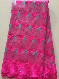 $enCountryForm.capitalKeyWord Australia - New design african net lace fabric with beads for wedding dress 2018 hot selling Nigerian lace fabrics 5yards