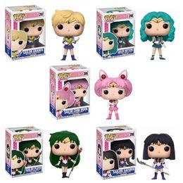 Wholesale Funko POP Sailor Moon URANUS MOON NEPTUNE PLUTO SATURN Action Figures PVC Model Boy Girl Toys