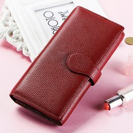 Business Card Holder Magnetic Australia - RFID anti-magnetic wallet 2018 new large-capacity clutch bag female Korean version of the ladies wallet leather wallet