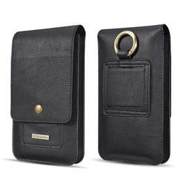 Iphone Leather Sleeve Cases Australia - Univesal Luxury Retro Vertical Flip Belt Clip Pouch Pocket Leather Cover Case For Samsung Galaxy iphone Smartphone Sleeve Bag
