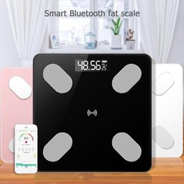 smart scales 2020 - LCD Digital Body Fat Scale Smart Voice Bluetooth APP Electronic Scales for Apple IOS Bathroom Household Balance D1901170