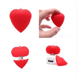 cute usb flash UK - lovely heart pendrive usb flash drive 4GB 8GB 16GB 32GB 64G 128G pen drive cute memory stick hot sale usb disk