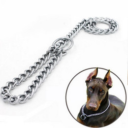 $enCountryForm.capitalKeyWord Australia - New 4Size Adjustable Metal Stainless Steel Snake Chain Dog Collar Training Show Name Tag Collar Safety Control For Small Big Dog