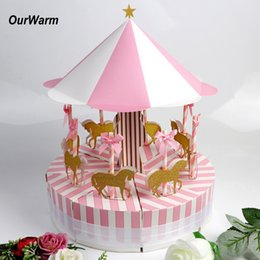 $enCountryForm.capitalKeyWord Australia - OurWarm Candy Box for Unicorn Party Carousel Paper Gift Box Birthday Party Decorations Kids Wedding Favors and Gifts OurWarm Paper Candy