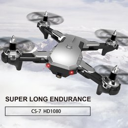 Wifi Electric Australia - CS7 Drone 2.4Ghz 4 CH Wifi FPV 1080P Wide-angle HD Camera Remote Control Helicopter Foldable RC Quadcopter Selfie Drone RTF