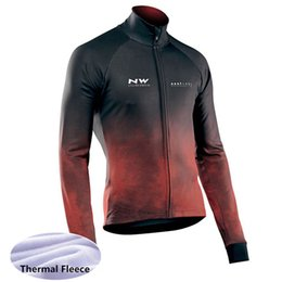 browns orange jersey UK - 2020 Winter Thermal Fleece NW Cycling Jersey Ropa Ciclismo Mtb Long Sleeve Bike Wear Men Racing Clothing Bicicleta Maillot 120406Y