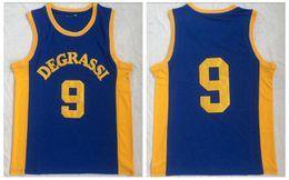 School Basketball Jerseys Australia - Drake Jimmy Brooks #9 Degrassi Community School Basketball Jerseys Blue Degrassi High School Moive Basketball Jersey Uniform
