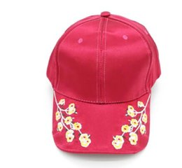 87877c243ca Flower Cap Hat UK - Silk and satin flower baseball cap retro exquisite  embroidery plum curved