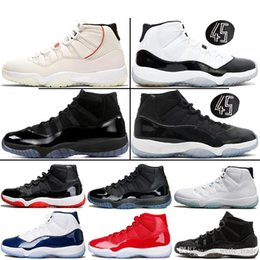 carbon fiber basketball shoes 2019 - Platinum Tint Concord 45 11s High and LOW Basketball Shoes 11 Basketball Shoes Carbon Fiber Sports Sneakers With Origina