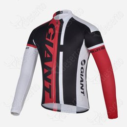 t sport racing UK - 2019 New GIANT team style Cycling long Sleeves jersey Breathable sport racing cycling jersey T-shirt 61310