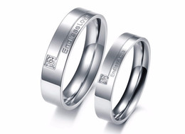 $enCountryForm.capitalKeyWord Australia - Endless Love Engagement Ring 316L Stainless Steel Crystal Inlaid Couple Rings, Never Fade Cheap Price Gift