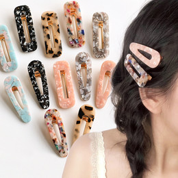 Hair accessories snap clip online shopping - Women Girl Vintage Leopard Resin Hair Clips Duckbill Snap Clip Tortoise Shell Slide Barrette Hairpin Hair Accessories Girls Party Gift