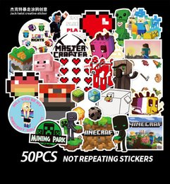 Wholesale motorcycle games for sale – custom 50 Mixed Skateboard Stickers My world game For Car Laptop Pad Bicycle Motorcycle PS4 Phone Luggage Decal Pvc guitar fridge Stickers