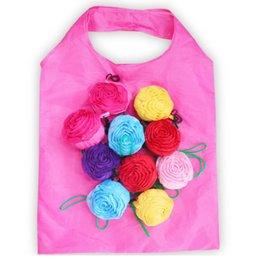 Rose Foldable Shopping Bag 3D Flower Folding Reusable ECO Friendly Shoulder Bag Folding Pouch Storage Bags HHA636 on Sale
