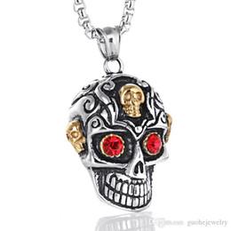 $enCountryForm.capitalKeyWord Australia - Good quality mens necklace Titanium Steel Ghost pendant necklace Gothic punk jewelry skull necklace