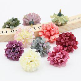 $enCountryForm.capitalKeyWord NZ - 5PCS 4cm Cheap Daisy Mini Artificial Silk Rose Flowers Heads DIY Scrapbooking Fake Flower Kiss Ball For Wedding Decorative D19011101