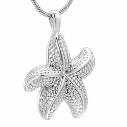 $enCountryForm.capitalKeyWord UK - Fashion Jewelry Sea Star Shape Human Cremation Necklace Funeral Urn Ashes Holder Stainless Steel Jewelry for Men Women