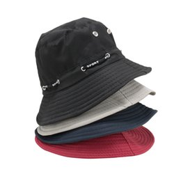 Fishing Hats Wholesale Australia - fashion bucket hat Men Women outdoor sun  hat 4 Colors Fishing 57eac15346d4