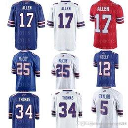 $enCountryForm.capitalKeyWord Australia - New 17 Josh Allen Draft Piack Jersey Bills 25 LeSean McCoy 34 Thurman Thomas 12 Jim Kelly Football Jerseys