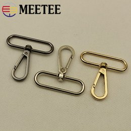 $enCountryForm.capitalKeyWord NZ - Meetee 10pcs 50mm Luggage Hardware Accessories Shoulder Strap Hook Buckle Keychain DIY Metal Lobster Clasp Bag Hanger F4-1