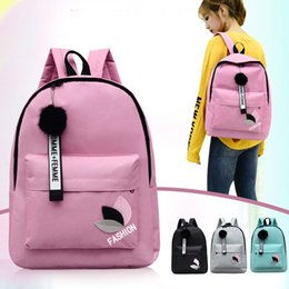 $enCountryForm.capitalKeyWord Australia - Double Shoulder Bag 2019 New Canvas Printed Leaf Backpack Japanese And Korean Student Bag Small Fresh Travel Backpack