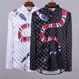polka dot dress shirts for men 2019 - mm 2018 Brand New Medusa printed Luxury Men Dress shirt Slim Fit cotton shirts for men black print casual Business Medus