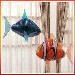 flying fish remote control toy Canada - Highquality Remote Control Electric Flying Fish Shark Clownfish Inflatable Air Proposal Essentials Confession Props