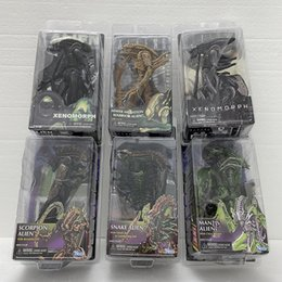 aliens figures NZ - Alien Figure Scorpion Snake Mantis Gorilla Bishop Queen Face Hugger Dog Sewer Mutation Warrior Xenomorph Alien Action Figure Toy T200603