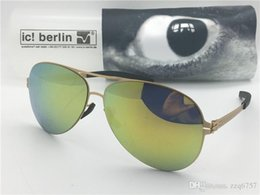 Chinese  Germany designer brand sunglasses IC model christian s. Ral ultra-light without screw memory alloy glasses detachable frame coated lenses manufacturers