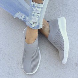 casual knitted shoes Australia - 2019 Shoes Women Casual Knitting Sock Sneakers Stretch Flat Ladies Slip On Shoes Female Leisure Flats Fashion Espadrilles