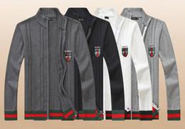 $enCountryForm.capitalKeyWord Australia - GC 7130 Wholesale 2019 New Quality Polo Men's Twisted Knit Cotton Cardigan Sweater Men's Simple temperament designer sweater