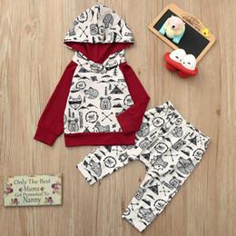 $enCountryForm.capitalKeyWord Australia - Infant baby boy clothes Long sleeve Girls Cartoon Fox Panda Print Hoodie Tops+Pants Outfits kids clothes boys 2019 Hot Sale