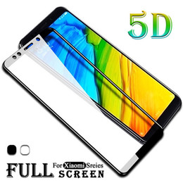31f27e10bd0 9D 5D Vidrio templado con pegamento completo curvo para Xiaomi Mi 9 SE 8  Lite 9H Protector de pantalla de cubierta completa Películas en Redmi Note  6 Pro 6A ...