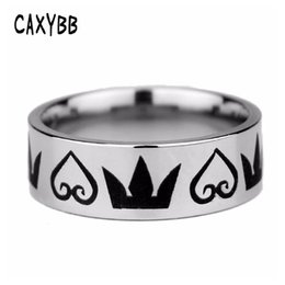 $enCountryForm.capitalKeyWord NZ - Caxybb New Arrival Classic Movie Ring Kingdom Hearts Emblem Symbol Ring Jewelry Stainless Steel Ring Men and Women gift