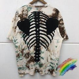 Wholesale dye shirts online – design 7Colors T shirt Tees Tie dye T Shirt Men Women Best Quality Streetwear Printing