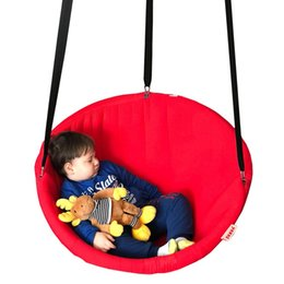 $enCountryForm.capitalKeyWord Australia - Hanging chair disc hammock swing for indoor and outdoor, Svava Relax Seat Swing 80 cm - 1 Pcs Carrier Hanging Belt GIFT