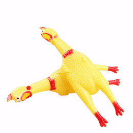 $enCountryForm.capitalKeyWord Australia - Hot Sell Funny Sounding Pet Toy Dog Toys Chicken Squeak Cock Screaming Squeeze Cat Toy Shrilling Decompression Cute Pet Products