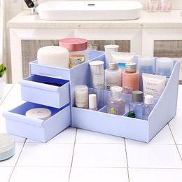 $enCountryForm.capitalKeyWord Australia - wholesale New Cosmetic Storage Box Drawer Plastic Makeup Organizer Holder Desktop Stationery Sundries Organizer Container