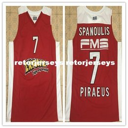 Red Basketball Jerseys Australia - 2018 New #7 Vassilis Spanoulis red Basketball Jersey Stitched Customize any number and name XS-6XL vest Jerseys NCAA