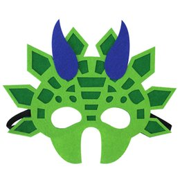 $enCountryForm.capitalKeyWord Australia - Kids Dinosaur Cartoon Party Mask Cute Animal Decorative Accessories Favors Half Face Mask Themed Masquerade Halloween 500pcs AAA1940