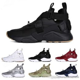 10b3a0bbcea1 Free shipping Original New Arrival Official Air Huarache 5 Run Ultra  breathable Men All Black Running Shoes casual shoes Sneakers 40-45