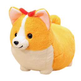 $enCountryForm.capitalKeyWord Australia - New Fat Corgi Dog Plush Toy Stuffed Animal Cartoon Pillow Lovely Christmas Gift for Kids Kawaii Valentine Present