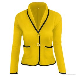 6XL Плюс Размер Женщины Блейзер Костюм Осень Повседневная Кнопка Тонкий Работа Офис Короткий Пиджак Куртка Пиджаки Feminino Jaqueta Veste Femme FS6022 на Распродаже