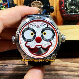 Unique Analog Watches Australia - Upgraded version Konstantin Chaykin Joker Unique creativity Red Inner Joker Dial NH35A Automatic Mens Watch Silver Case Leather Band Watches